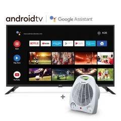 """TV Miray LED Smart FHD 42"""" MS42-T1000BT + Estufa Termo Ventilador Miray ETM-37"""