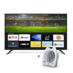 """TV Miray LED Smart FHD 42"""" MS42-T100 + Estufa Termo Ventilador Miray ETM-37"""