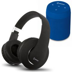 Parlante Portátil Miray PMBT-49A + Audífonos MIRAY AM-8677B-N Over Ear Negro