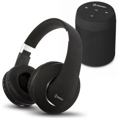 Parlante Portátil Miray PMBT-49 + Audífonos MIRAY AM-8677B-N Over Ear Negro