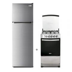 Refrigeradora Miray RM-251HI No Frost 251L + Cocina a Gas Miray Cerezo 4 Hornillas