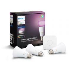 Philips Hue Started Kit 3 Focos Inteligentes Color + Bridge