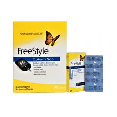 Kit Glucómetro Freestyle Optium Neo + Tiras reactivas Freestyle Optium Neo Caja x 25
