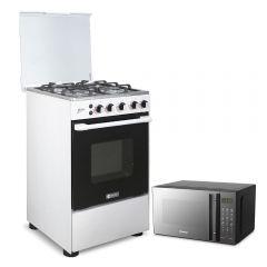 Cocina A Gas Miray Mirto + Horno Microonda Miray HMM-21N