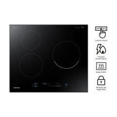 Cocina Empotrable Eléctrica Samsung NZ63R6707MR 3 hornillas