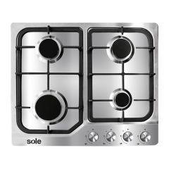 Cocina Empotrable GN/GLP Sole SOLCO035 4 hornillas