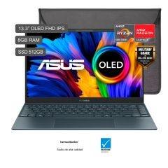 "Laptop Asus Zenbook UM325UA-KG100T 13.3"" AMD Ryzen 7 5700U 512GB SSD 8GB RAM"