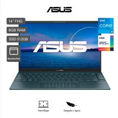 "Laptop Asus ZenBook 14 UX425EA 14"" Intel Core i5-1135G7 512GB SSD 8GB RAM"