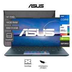 "Laptop Asus Zenbook 14 14"" UX435EG Intel Core i7-1165G7 512GB SSD 16GB RAM"